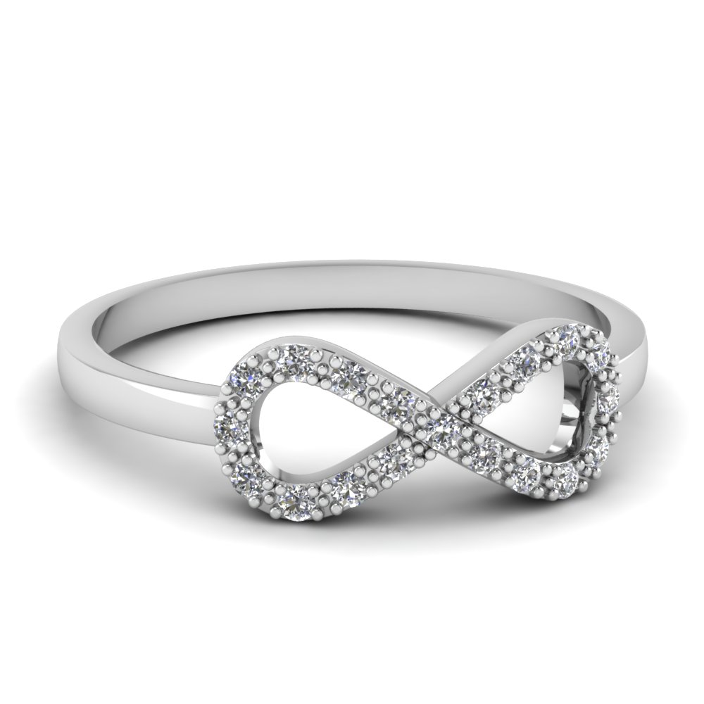 Infinity Diamond Promise Ring In FD651088R NL WG