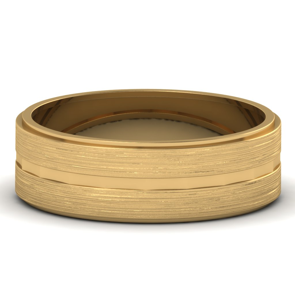 matte finish gold mens wedding band