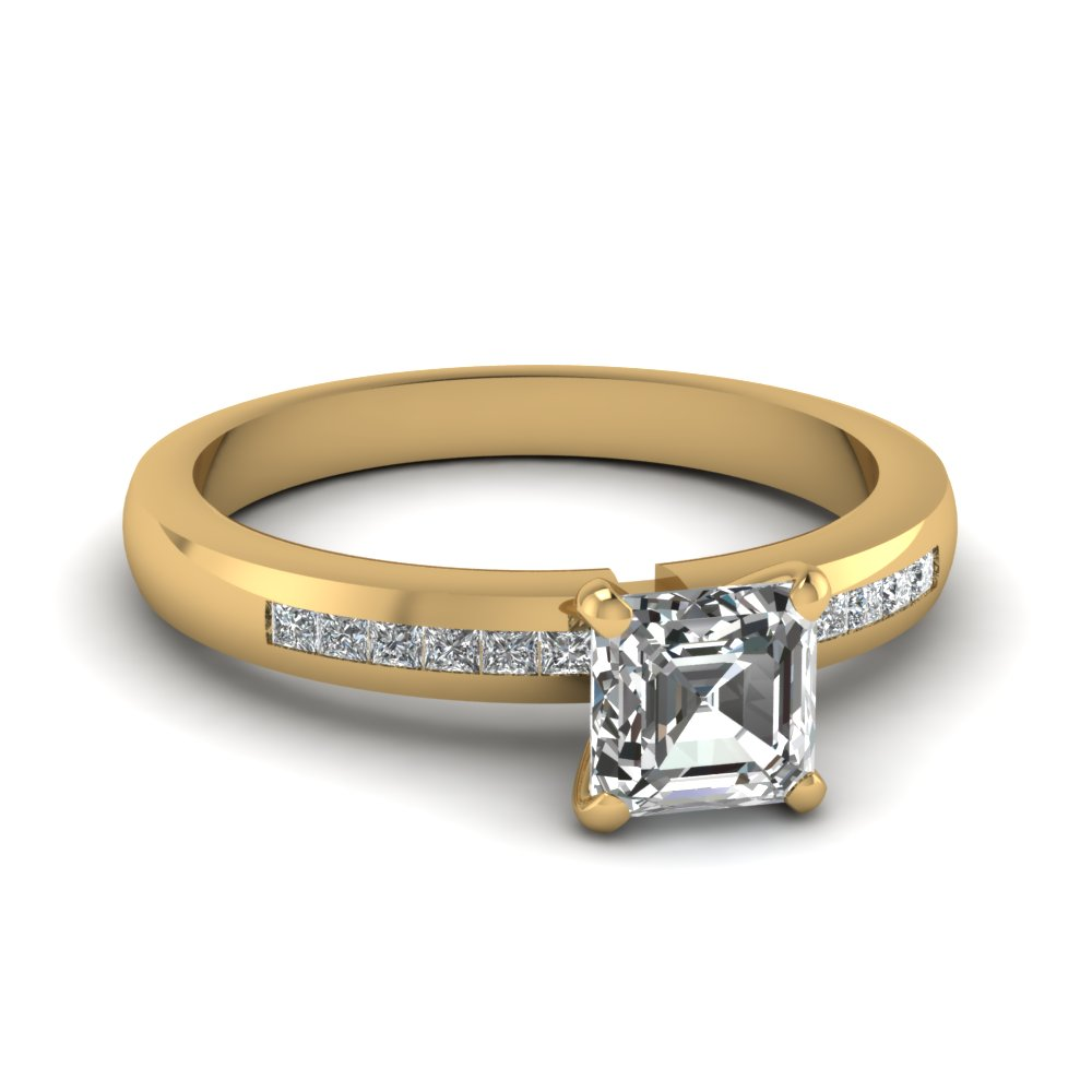 1/2 Carat Asscher Cut Diamond Ring For Women
