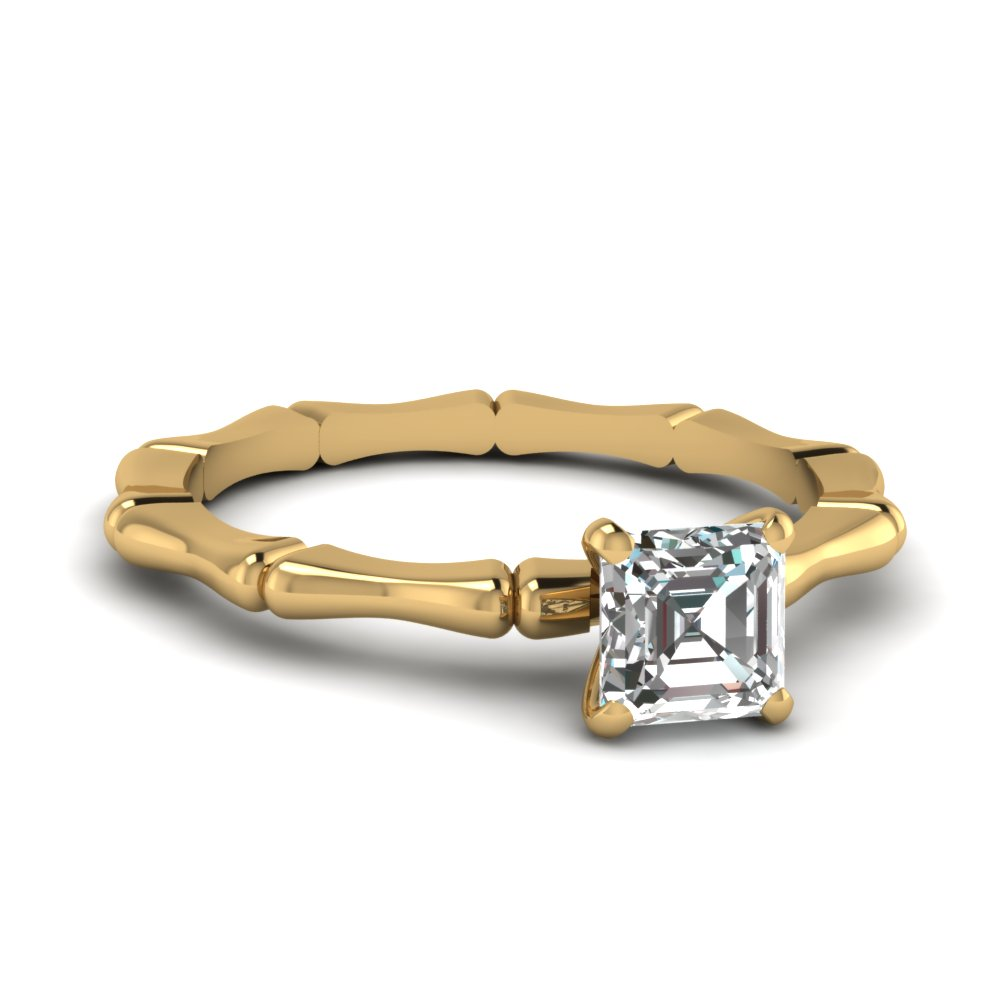 bone design asscher diamond solitaire engagement ring in FDENS1823ASR NL YG.jpg