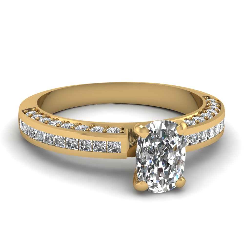 Cushion Elegant Diamond Engagement Ring