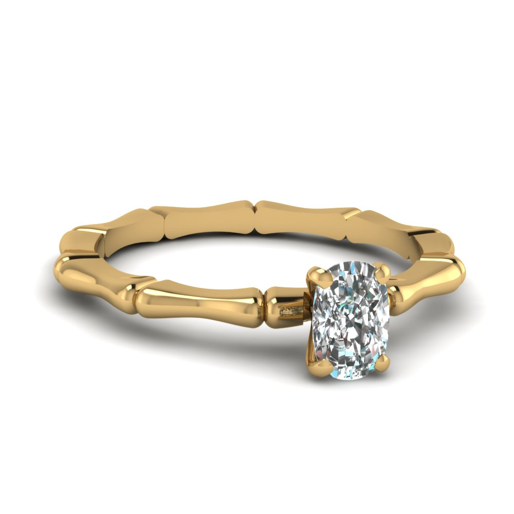 bone design cushion diamond solitaire engagement ring in FDENS1823CUR NL YG.jpg