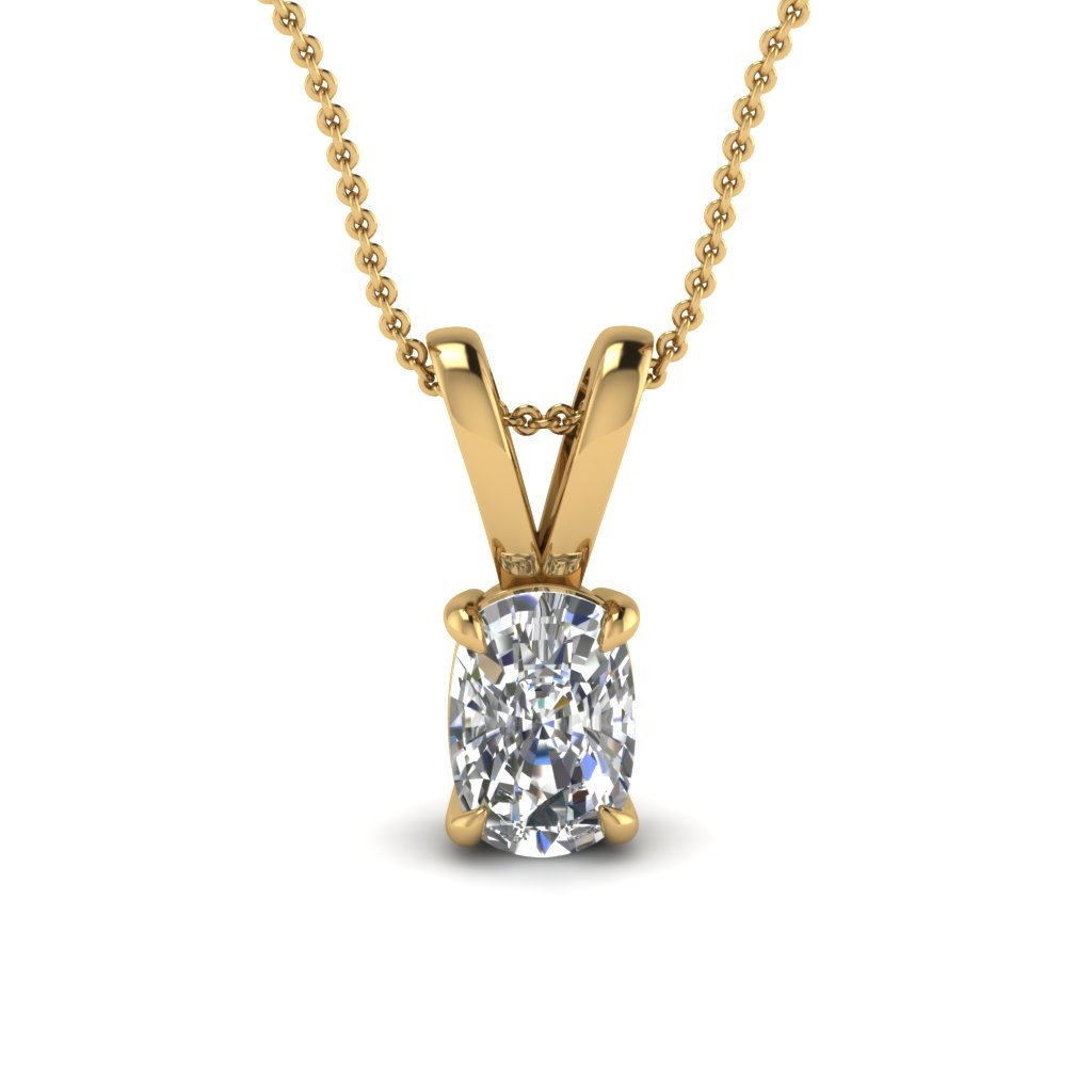 Cushion Cut Diamond Pendant Necklace