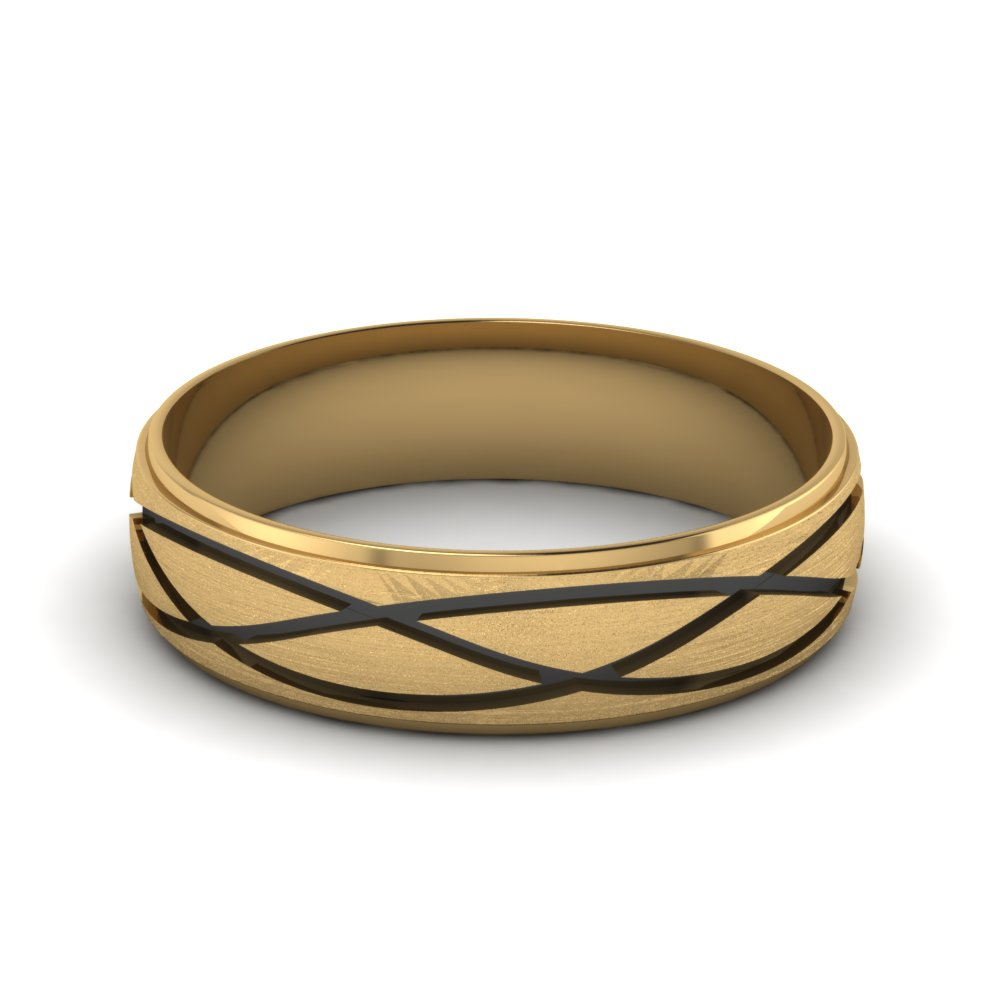 yellow-gold-fancy-milled-design-mens-wedding-band-FDM944B-NL-YG
