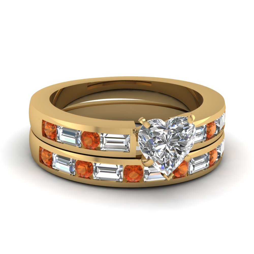 Channel Baguette Diamond Wedding Set