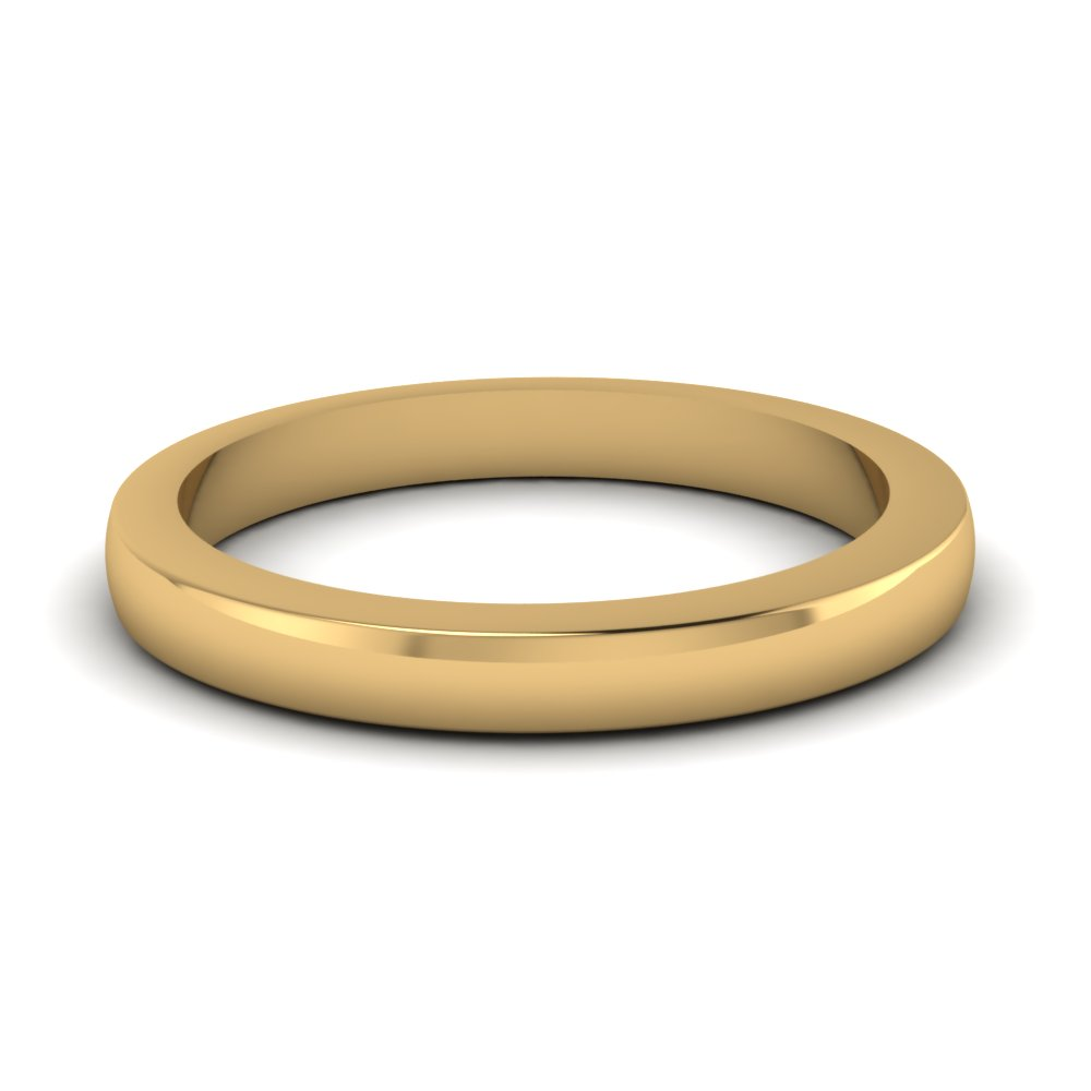 Classic 14k Yellow Gold Womens Wedding Band
