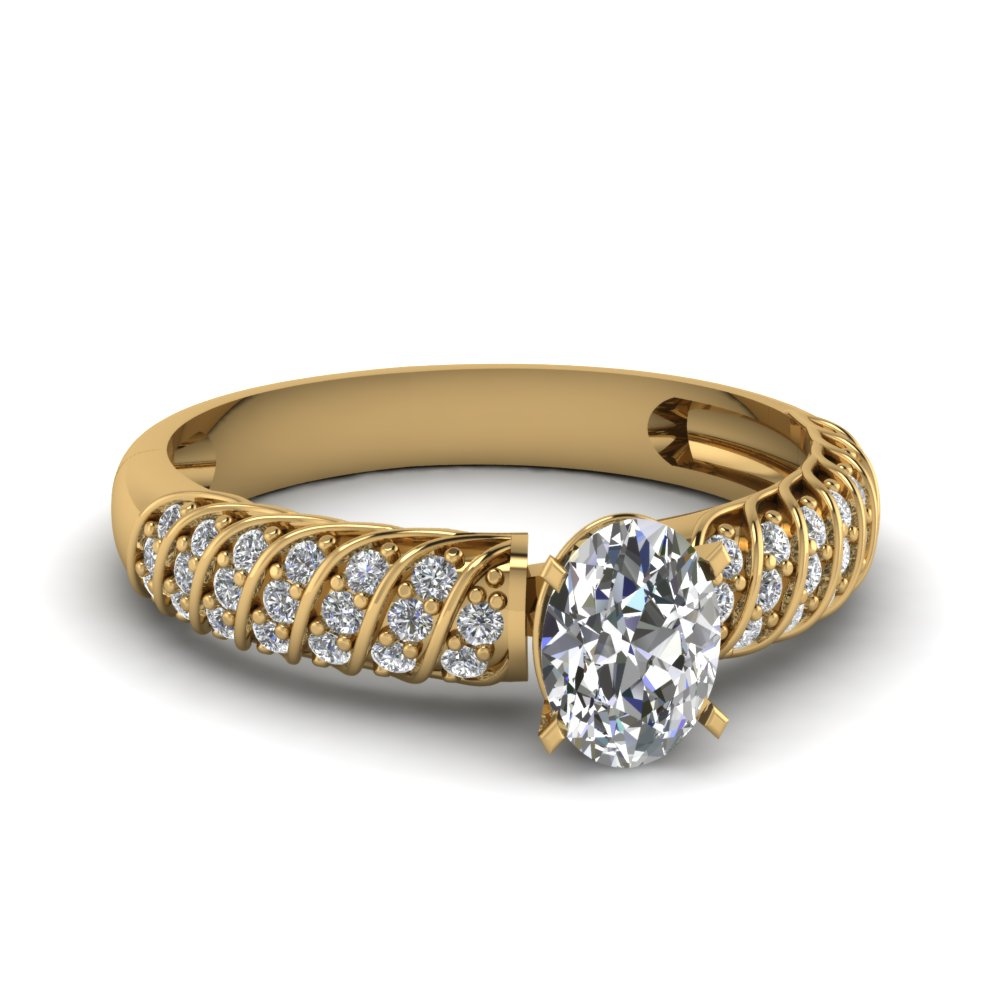 GIA Certified Oval Shaped Diamond Ring
