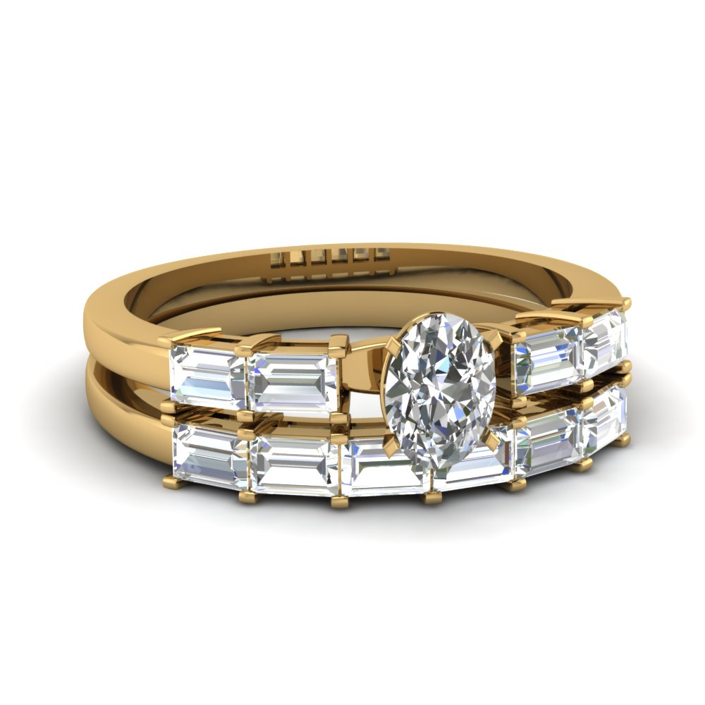 Baguette Cut Diamond Womens Wedding Band In 14K Yellow Gold