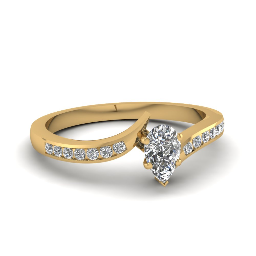 Half Carat Pear Shaped Diamond Engagement Rings
