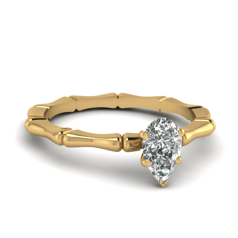 bone design pear diamond solitaire engagement ring in FDENS1823PER NL YG.jpg