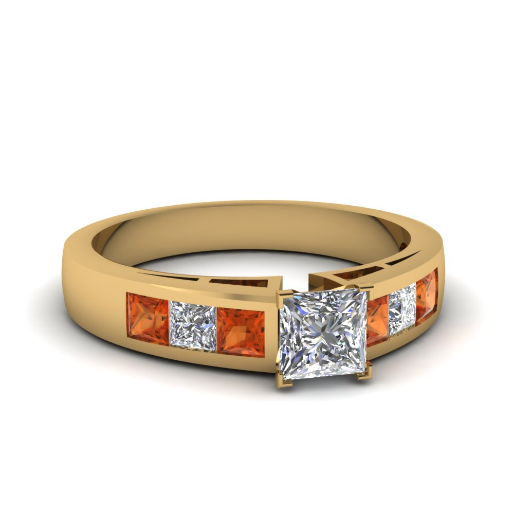 yellow-gold-princess-white-diamond-engagement-wedding-ring-with-orange-sapphire-in-channel-set-FD1001PRRGSAOR-NL-YG-30