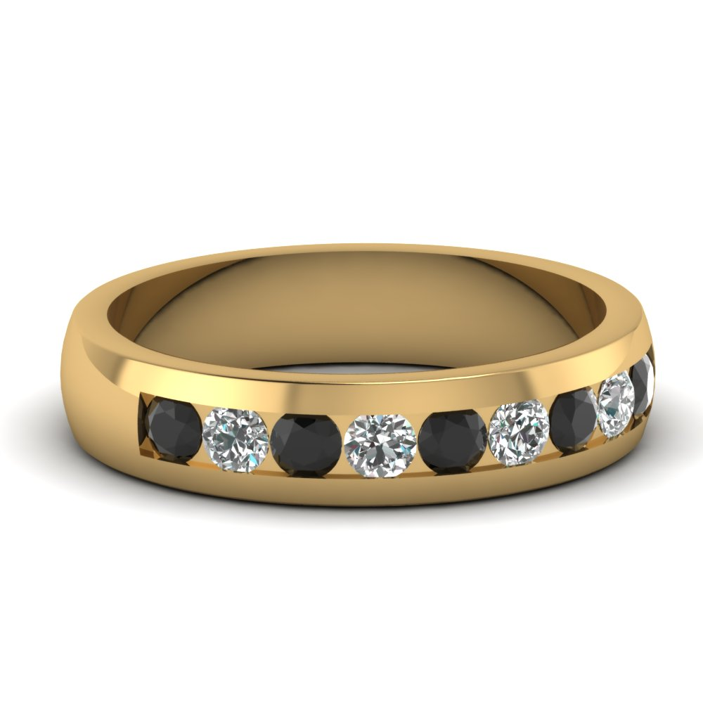 Black Diamond Mens Wedding Ring