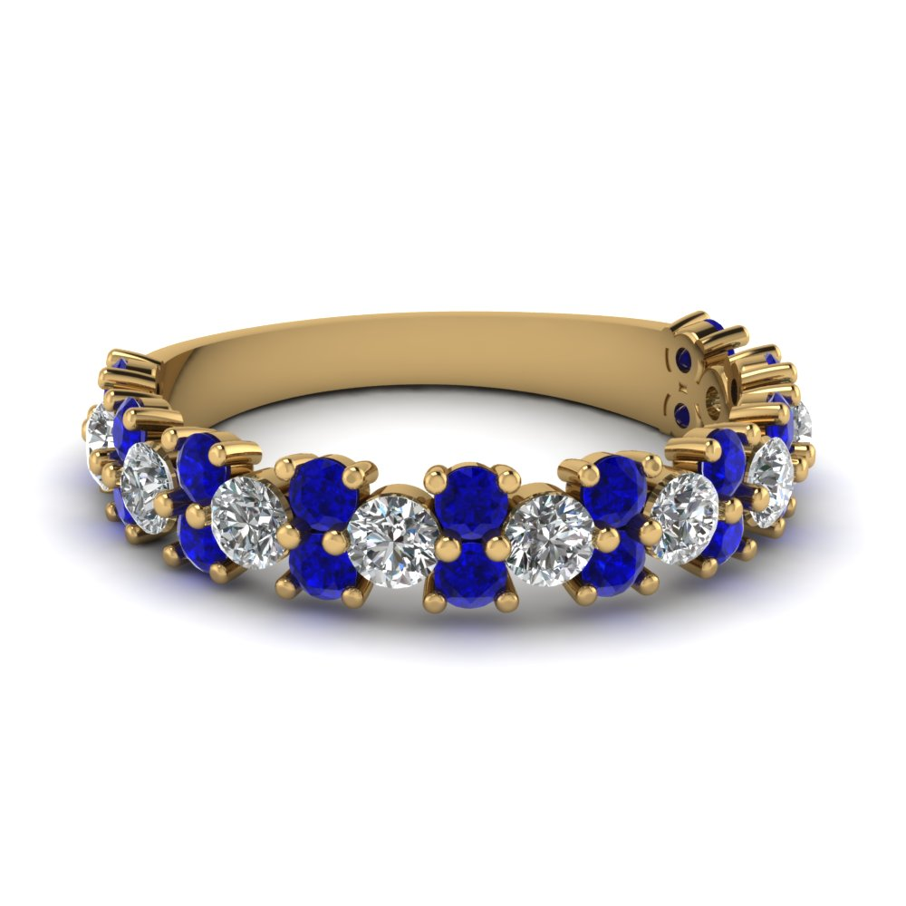 Sapphire Half Eternity Wedding Band