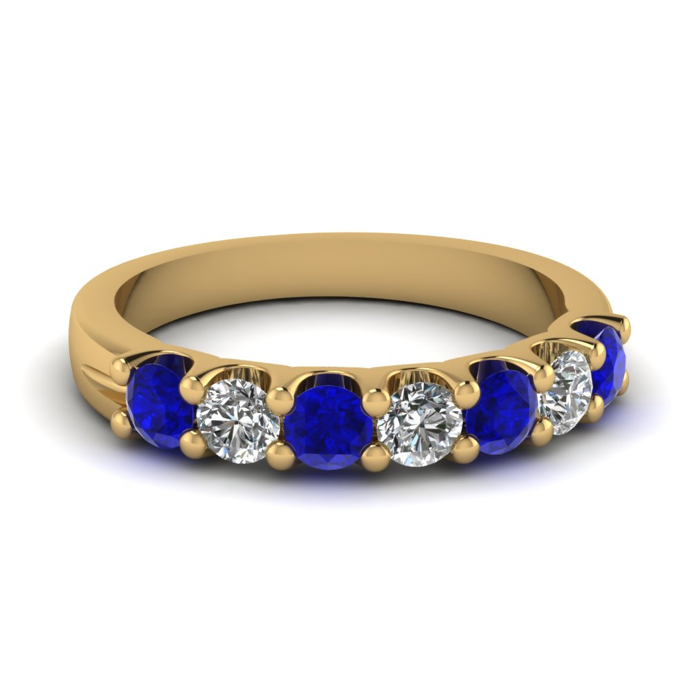 bands gold pear blue royal white ring rings band diamond anniversary sapphire shape
