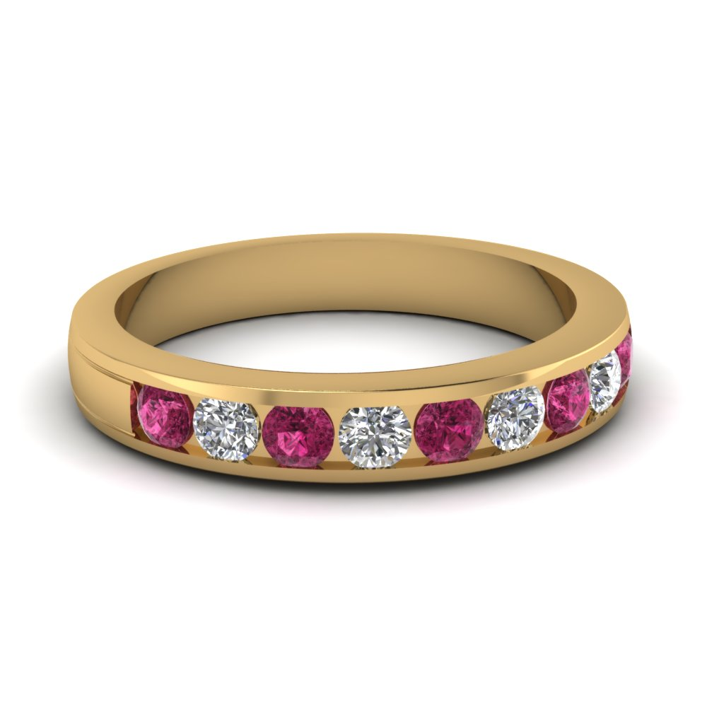 Round Cut Channel Set Band