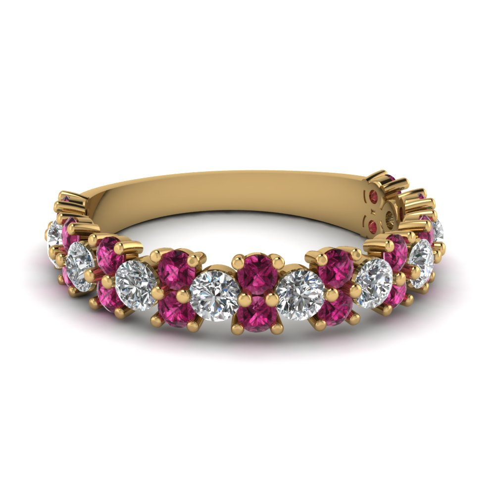 Vintage Round Cut Wedding Band