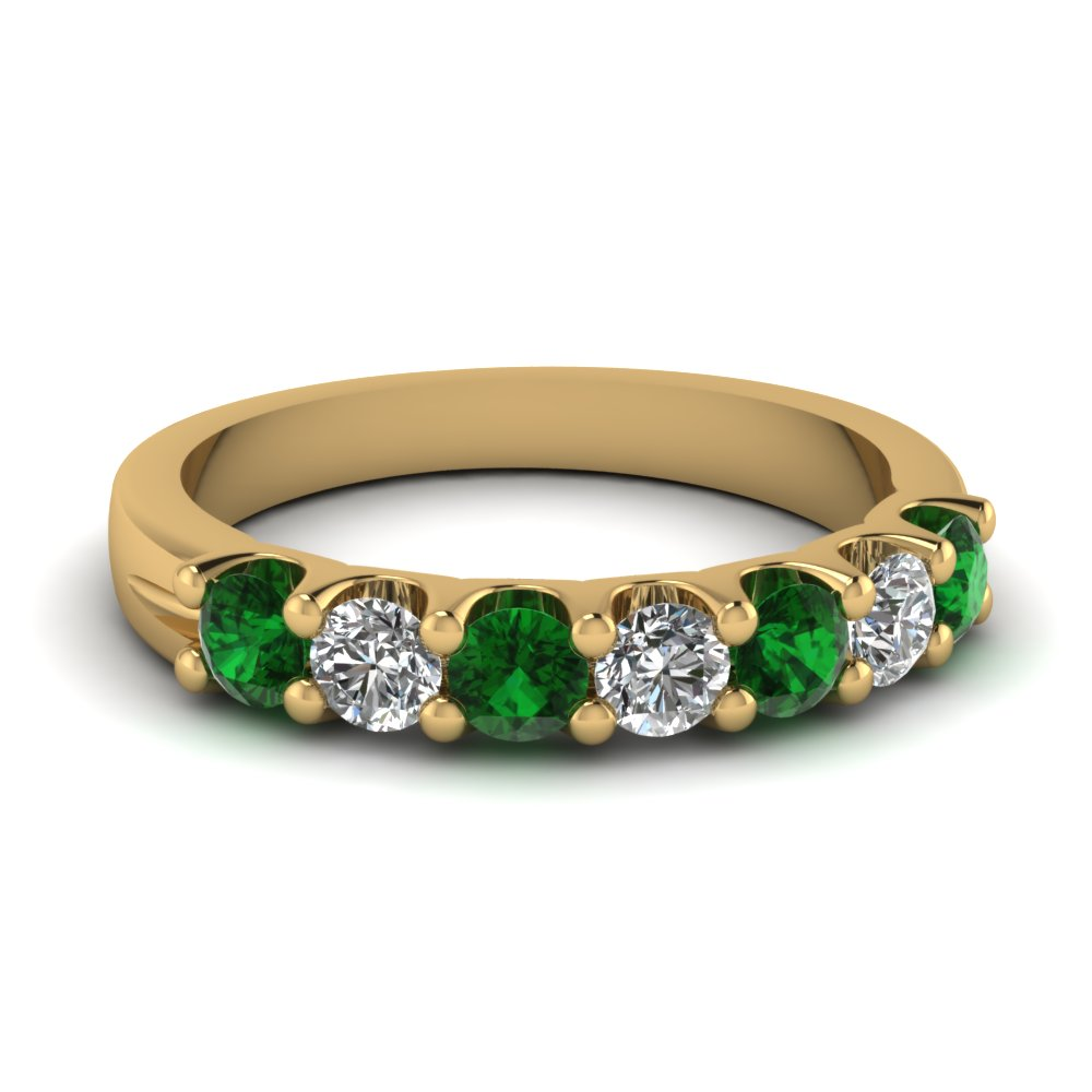 floral bands wedding emerald anniversary elegant band design product