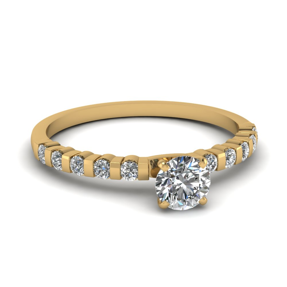 Brilliant Diamond Cut Gold Engagement Ring For Women