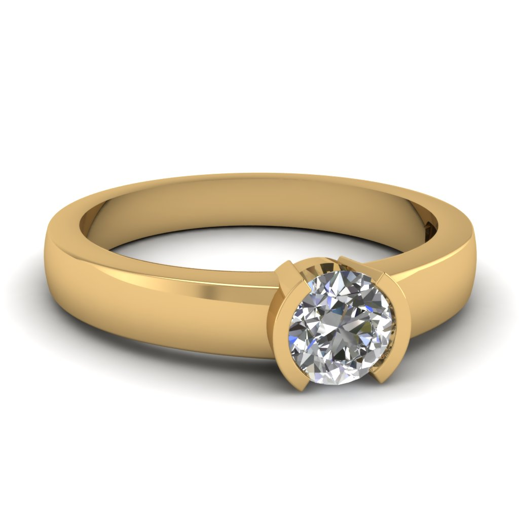 Semi Bezel Round Solitaire Ring