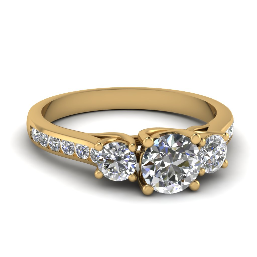 Trellis Channel Set Diamond Ring