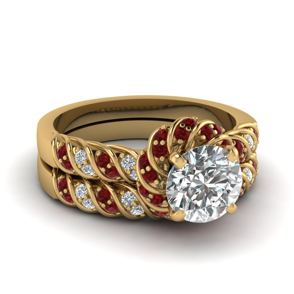 Filigree Paisley Antique Anniversary Diamond Band In 14k