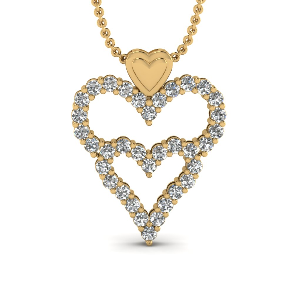 Diamond Heart Necklace For Women
