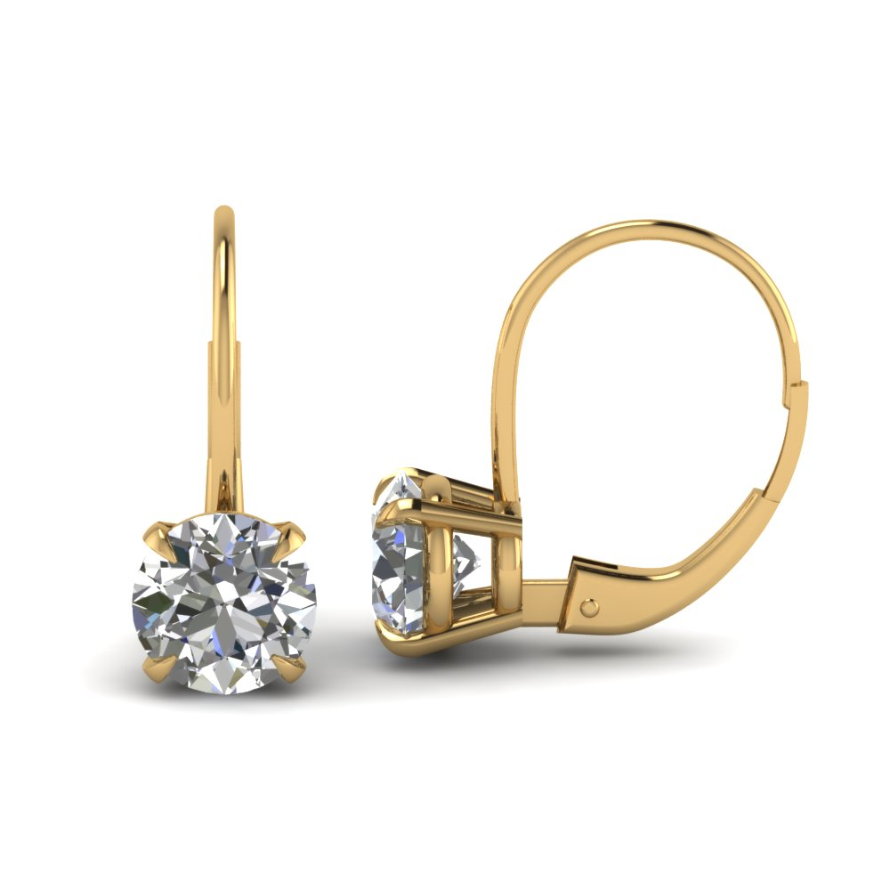 Leverback Hoop Diamond Earring