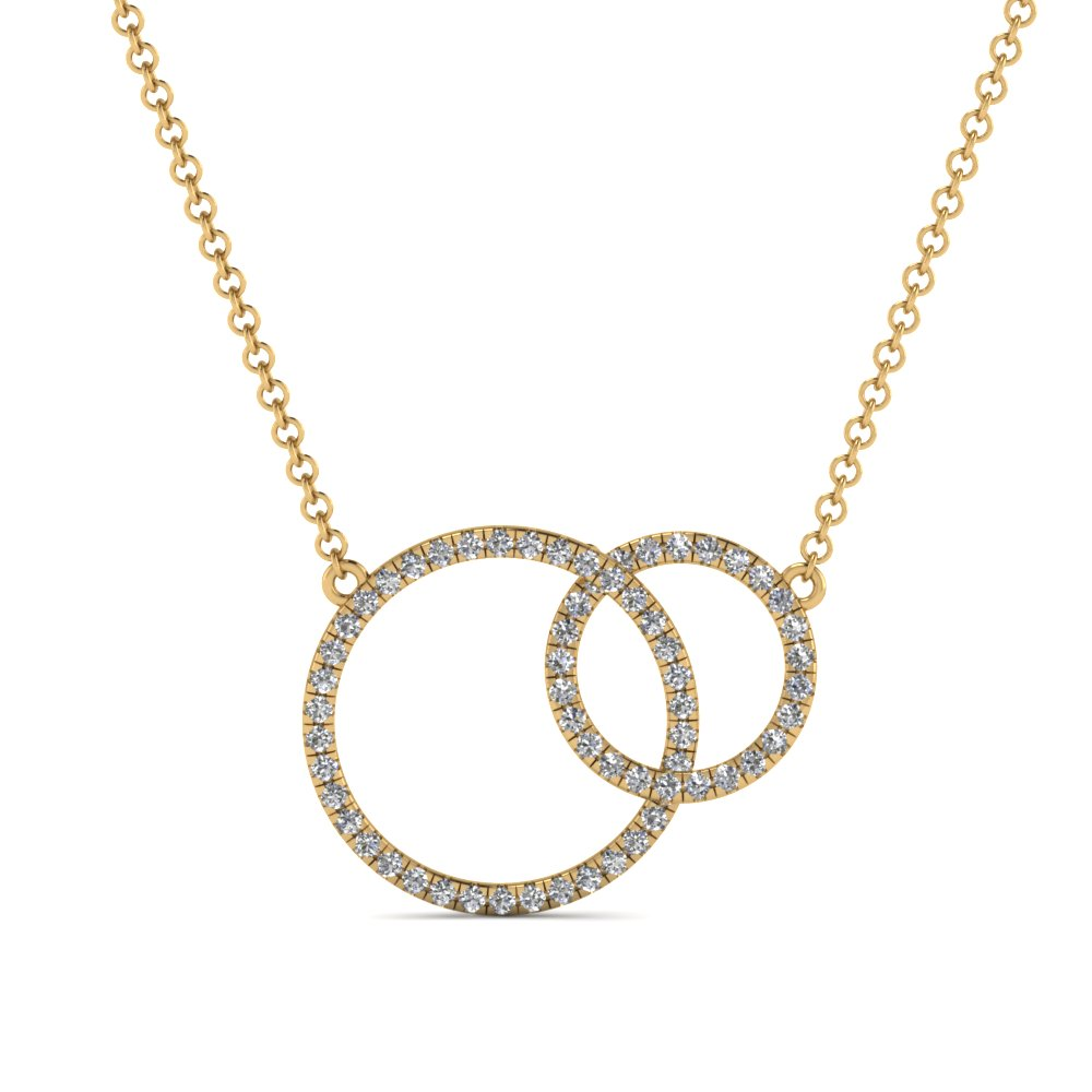 Yellow Gold Circle Pendant Necklace
