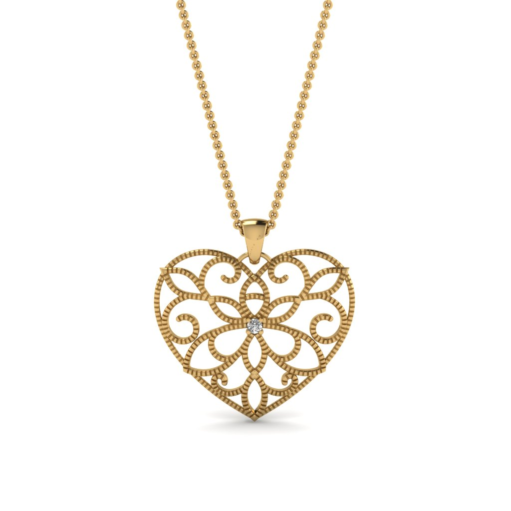 Stylish Heart Pendant