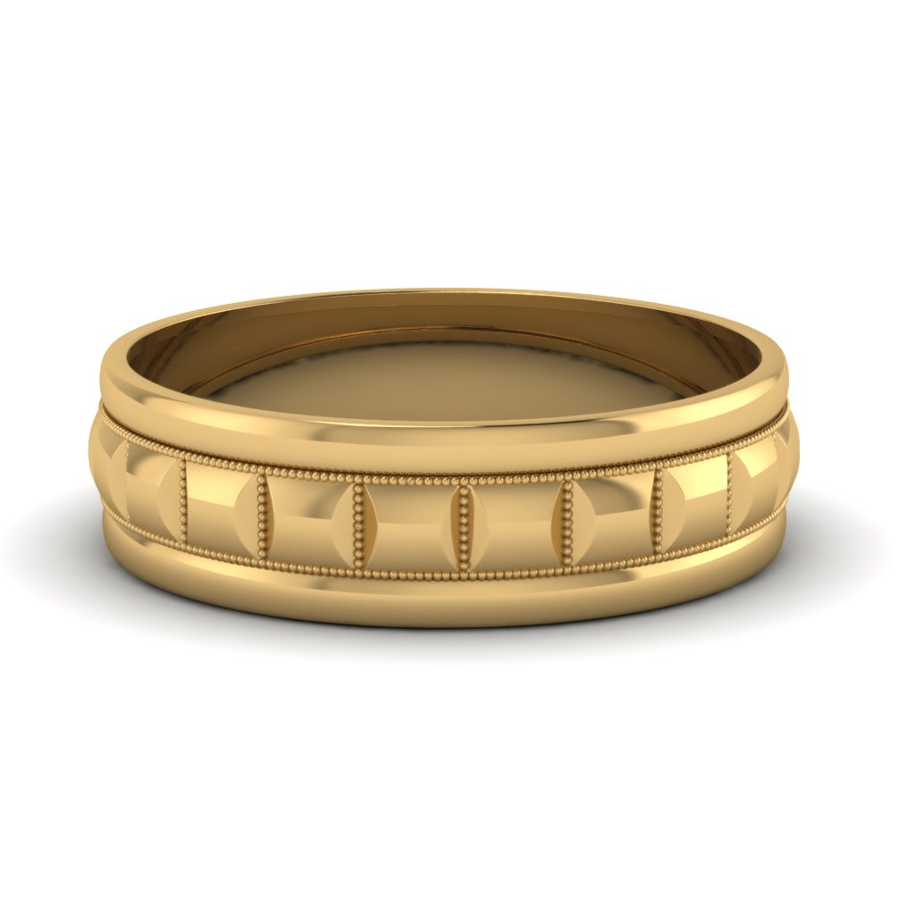yellow-gold-traditional-milgrain-carved-mens-wedding-band-FDM1010B-NL-YG