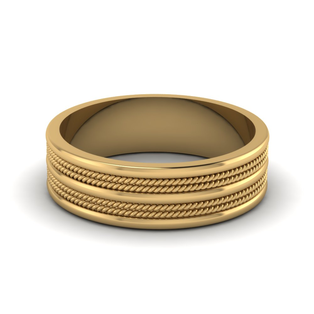 Mens Yellow Gold Wedding Bands