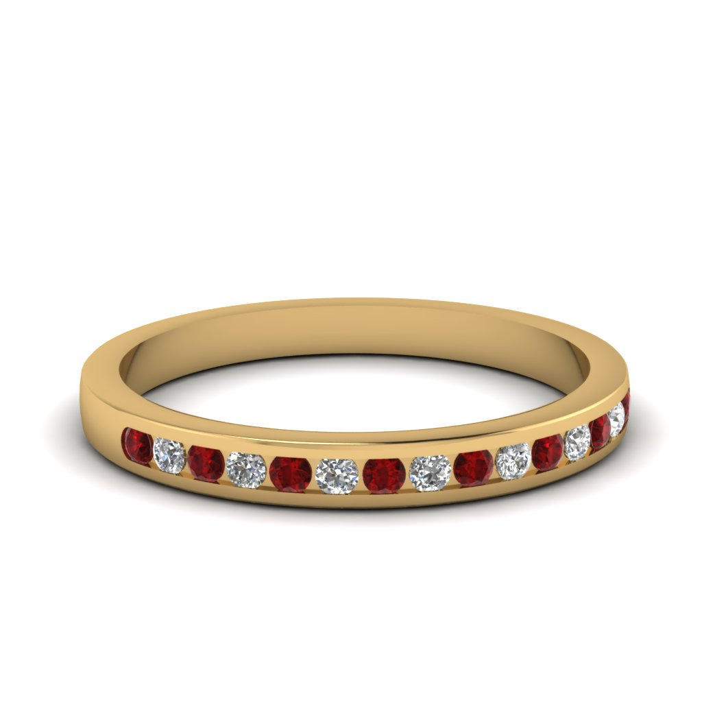 Delicate Ruby Wedding Band